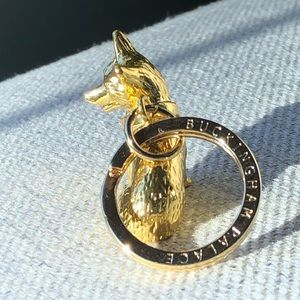 Accessories - Buckingham Palace Gold Tone Corgi Keyring